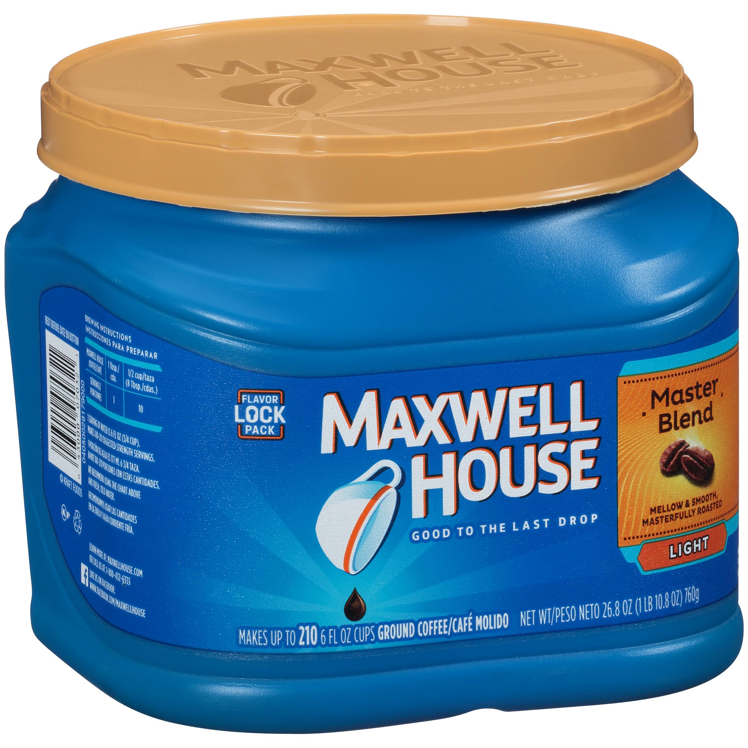Maxwell House Master Blend Light Ground Coffee - 26.8oz