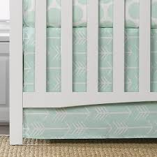 liz and roo crib skirt 17 white arrows on mint tiny toes showroom