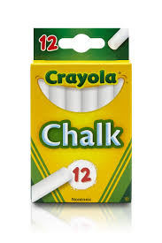 100 Chalks Truck Parts Crayola White Chalkboard Chalk 12 Count School Supplies Walmartcom