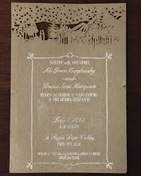 Farm Style Wedding Invitations Woodsy Rustic
