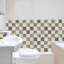 6 stk wasserdichte pvc selbstklebende tapete keramikkante taille badezimmer küche dekorative wandaufkleber