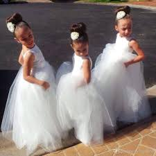 long formal with lace flower dresses 2017 cute little kids