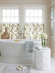 European Cafe Window Art Curtains by 20 Designs For Bathroom Window Treatment Home Design Lover