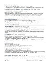 Contract Specialist Resume Safety Sample For Benefits Fire Format J