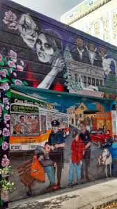 Balmy Alley Murals Mission District by Me Standing In Front Of A Mural In Balmy Alley Picture Of Balmy