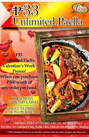 tres cuisine fresh promos tres cuisine unlimited paella php33