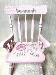 Furniture Delectable Pink Rocking Chair For Nursery Little ...