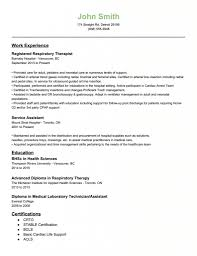 Respiratory Therapist Resume Objective Examples Of Resumes Templates