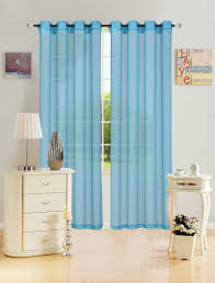 Sheer Curtain Panels With Grommets by Sheer Voile Window Curtain Panel With Metal Grommets Solid Color