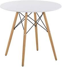 goldfan esstisch rund aus holz moderner küchentisch weiß 80cm klein tisch für wohnzimmer esszimmer büro