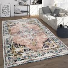 frisé teppich vintage kurzflor für wohnzimmer orient