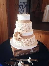 Cakes With Burlap Wedding For Rustic Country Weddings