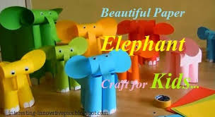Cute Elephants Craft Made From Color Papers
