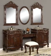 Single Sink Bathroom Vanity With Makeup Table by Makeup Vanity Dressing Table With Bathroom Vanities Arttogallery Com