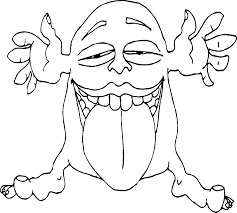 Monsters That Issued The Tongue Coloring Pages For Kids Printable