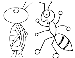 Ant Coloring Pages For Preschoolers