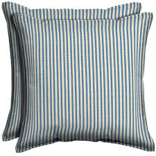 Pier One Outdoor Throw Pillows by Hampton Bay Sailor Blue Pinstripe Square Outdoor Throw Pillow With