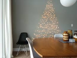 Tree Wall Decor Ideas by Diy Christmas String Lght Tree Wall Decoration