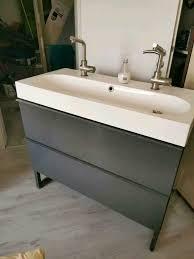 badezimmer waschtisch ikea doppelt armaturen spiegelschrank