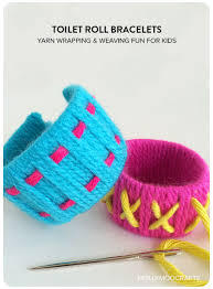 MollyMooCrafts Simple Toilet Roll Crafts For Kids Bracelets