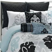 Blue and white bedding ideas light blue and black bedding black