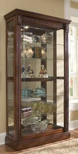 Pulaski Concave Corner Curio Cabinet by Decorating Elegant Curio Cabinet For Stunning Home Furniture