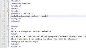 How To Create A Website In Using Notepad Adding Background Color And Image Tutorial 12 13
