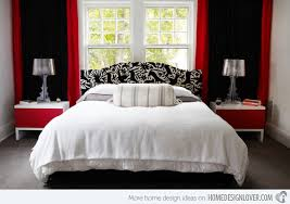 Simple Design Black White And Red Bedroom 15 Pleasant