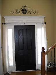Front Door Side Window Curtain Rods by Love Doing This Window Trim I Like The Curtain Rod And