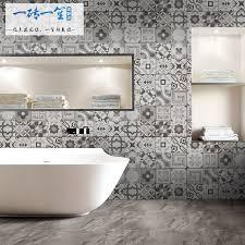 Gray Patchwork Tile Toilet Bathroom Dining Room Flower Wall Tiles Balcony Kitchen Floor 300x300