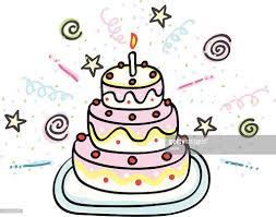 Birthday cake cartoon illustration Vector Art
