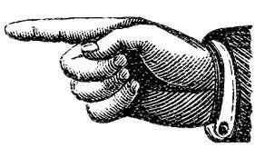 Victorian Clip Art Pointing Hands Steampunk
