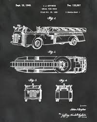 Patent Aerial Fire Truck 1940 Design By J.J. Grybos - Art Print ...