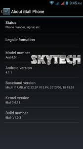 iBall Andi 4 5h receives Jelly Bean update