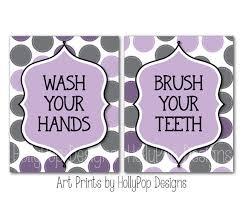 Purple Bathroom Wall Decor Childrens Art Prints Purpl On
