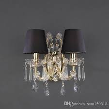 2018 2 light theresa wall sconce black shade gold or chrome