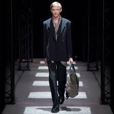 paul smith men u0027s black double breasted wool blend blazer in black