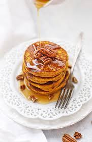 Easy Healthy Pumpkin Pancake Recipe by Blender Pumpkin Oatmeal Pancakes One Lovely Life