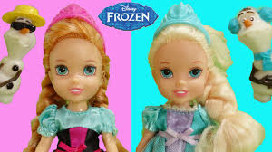 Frozen Baby Elsa And Anna Dolls Children With Olaf By Dreambox Toys