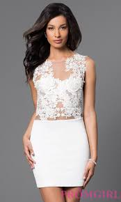 short party dress illusion lace dress promgirl