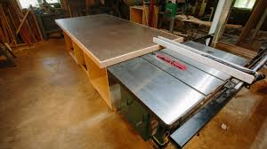 Sawstop Cabinet Saw Outfeed Table by Outfeed Assembly Table Build Youtube