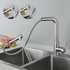 wasserhahn küche edelstahl ausziehbar küchenarmatur