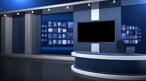 Television Anchor Desk Stock Video Footage