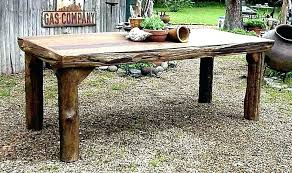 Outdoor Wood Furniture Round Patio Table Tops Wooden Outside Teak Deck
