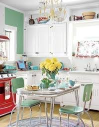 1950s Kitchen Mint Green Red And White Our Table Growing Up Only Ours