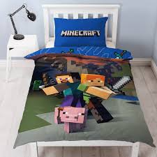 Minecraft Bedding Twin by Minecraft Single Duvet Cover Set New U0026 Official 2 In 1 Design Ebay
