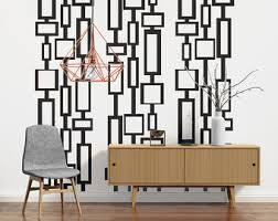Mid Century Modern Decor Wall Decals Art Retro