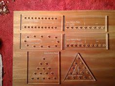 Five Game Drilling Templates Acrylic For Self Centering Drill Bits To Make Holes Pieces