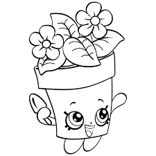 Coloring Page Of Shopkins Plant
