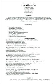 Commercial Truck Driver Resume Sample Objective Statement Videos Library Research